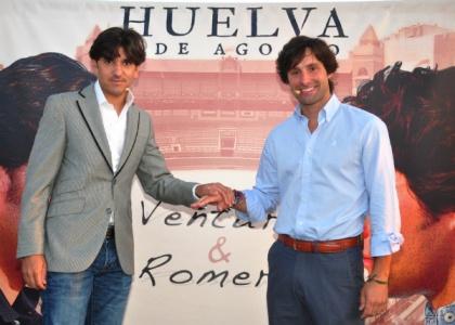 Diego Ventura y Andrés Romero ya calientan el mano a mano de Huelva