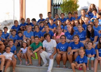 La Marea Azul de los niños de Escacena ya apunta a Colombinas